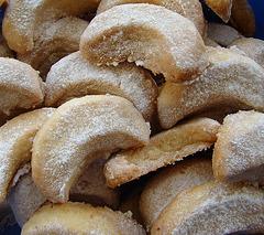 Weihnachtsplätzchen für Mona: Vanillekipferl! :-))