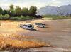 a Fishing Village in Island Ganghwa(Fisx-Vilagxo en Insulo Ganghwa강화어촌江華漁村)_oil on canvas_24.2x33.3cm(4f)_2007_HO Song