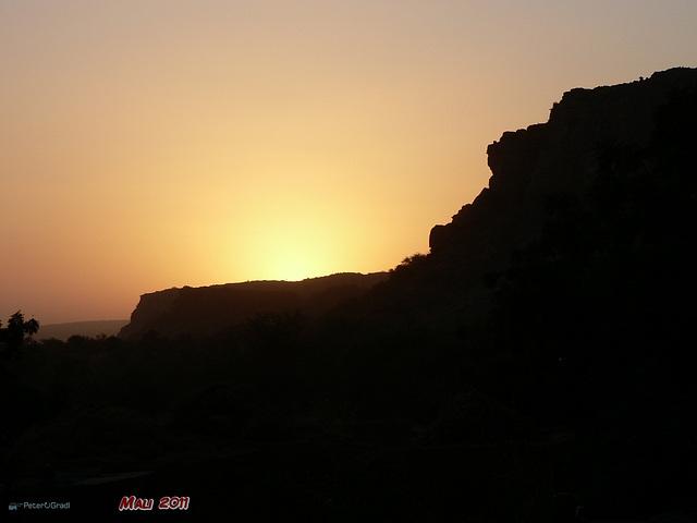 Sonnenuntergang im Dogonland