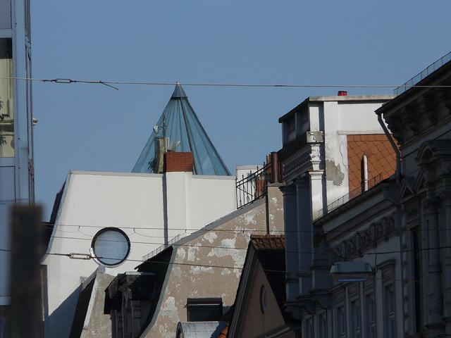 Ein Viertel Dächer