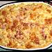 Nudelauflauf mit Blattspinat, Kochschinken und Ei