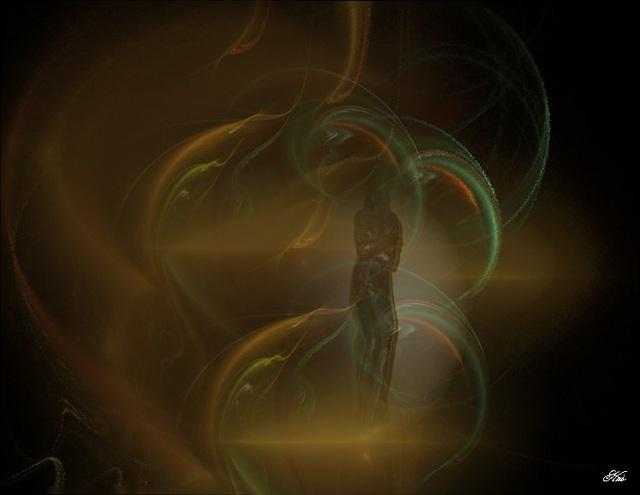 Dans les reflets dorés