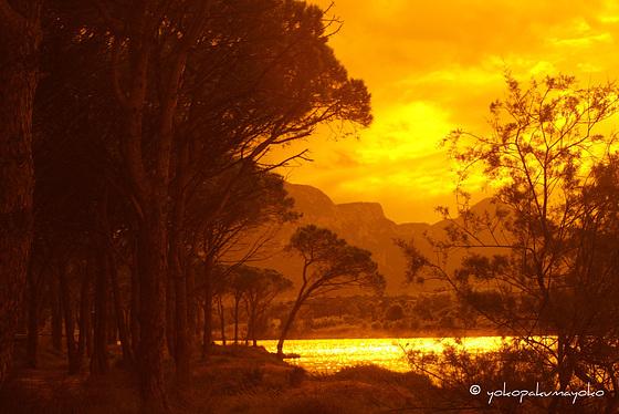 Sunset  on the east coast of Sardinia..