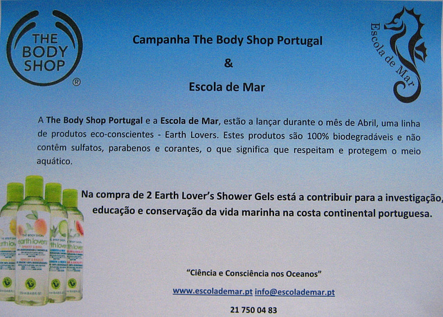 The Body Shop Portugal & Escola de Mar Partnership Promotion
