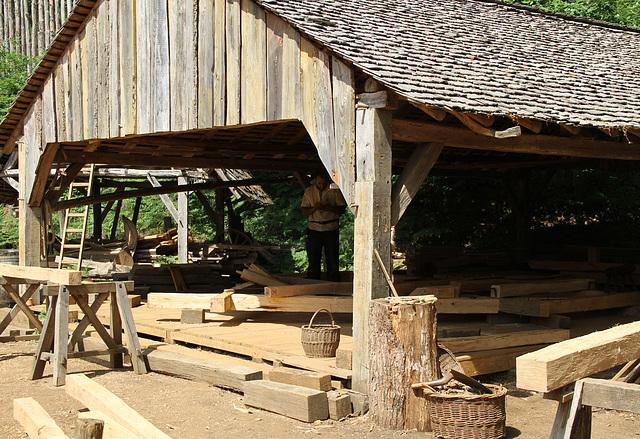 Les charpentiers - Guédelon
