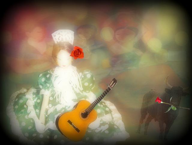 poupée Andalouse, sur un air de flamenco