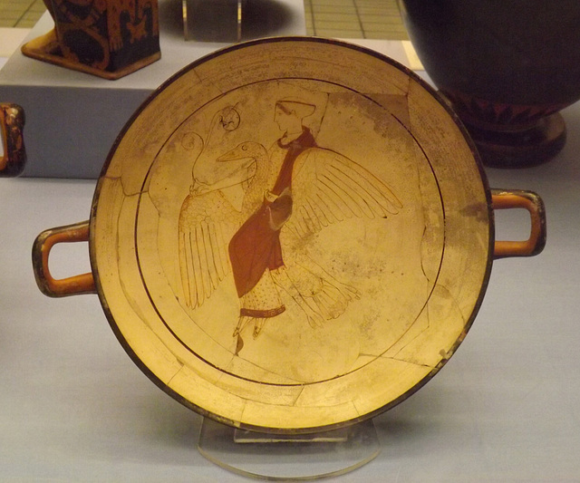 White-Ground Kylix with Euphronios as Potter in the British Museum, May 2014