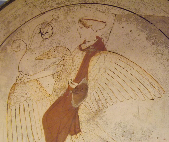 Detail of a White-Ground Kylix with Euphronios as Potter in the British Museum, May 2014