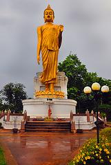 Buddha watching down the hill