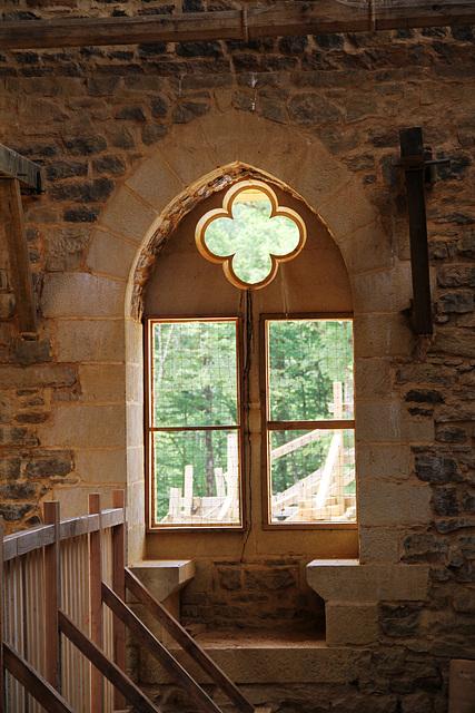 Fenêtre à coussièges - Guédelon