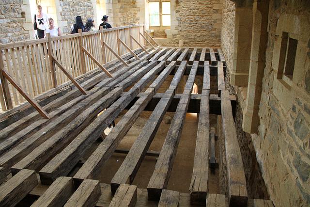Le sol de la salle seigneuriale - Guédelon