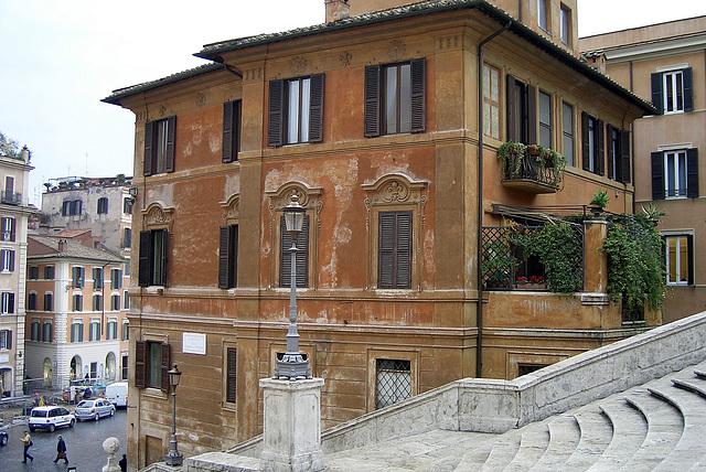 Rom, Villa links neben der spanischen Treppe