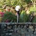 Clôture et lampadaire / Fence and lantern.