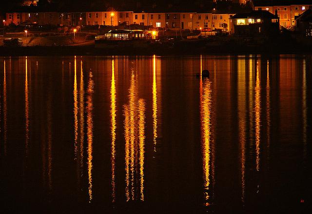 Lights across water