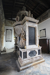 Monument to Sir Anthony Mildmay, Saint Leonard's Church, Apethorpe, Northamptonshire