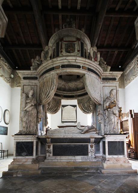 Monument to Sir Anthony Mildmay, Saint Leonard's Church, Apethorpe, Northamptonshire