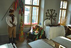 Etnografia  ekspozicio en la muzeo en Polička