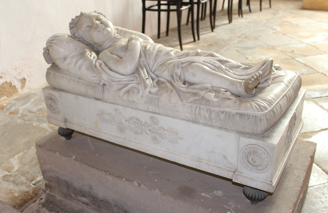 Memorial to the Honorable, John Arthur Fane, St Leonard's Church, Apethorpe, Northamptonshire