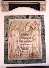Memorial to the Earl and Countess of Westmorland,Saint Leonard's Church, Apethorpe, Northamptonshire