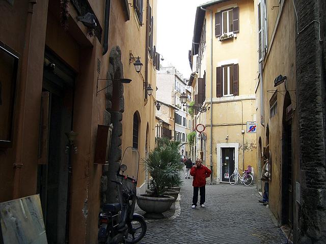 Rom enge straße vom Vatikan aus