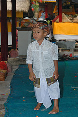 Young boy in traditional dress