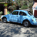 Belle cox bleue / Blue Volkswagen beetle a la mexicana