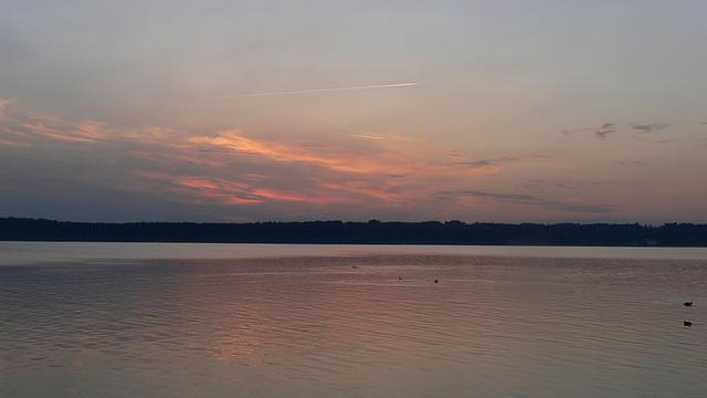 Morgenrot am Starnberger See