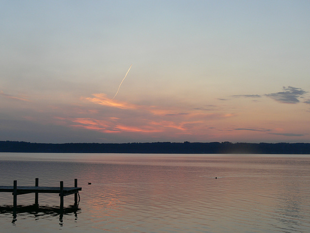 Morgenrot a m Starnberger See