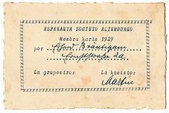 Membrokarto de Esperanto-Societo-Altenburgo el la jaro 1929 (antaŭe)