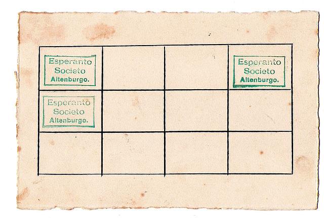 stampilo de Esperanto-Societo-Altenburgo el la jaro 1929 (dorsflanke)