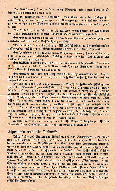 Esperanto auf einem Blatt(2)