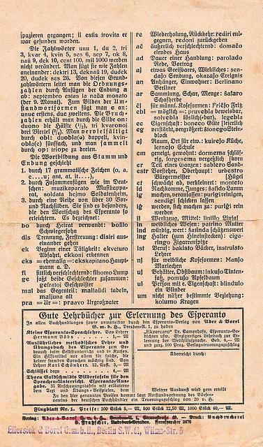 Esperanto auf einem Blatt(4)