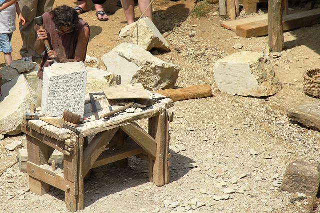 Les tailleurs de pierre - Guédelon