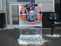 Chandails de hockey en glace / Frozen hockey sweaters - Montréal, Québec .CANADA -  26-01-2009