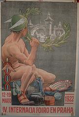 Afiŝo  - Internacia foiro en Prago 1922