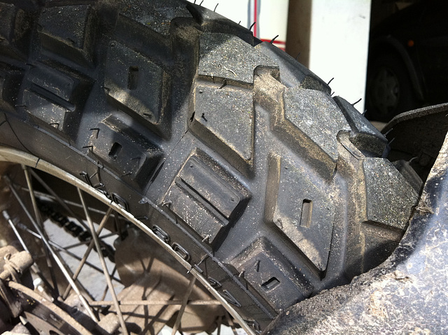 New rear tire