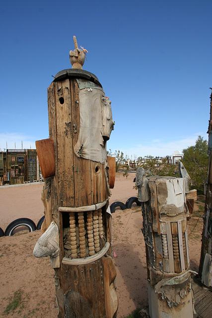 Noah Purifoy Outdoor Desert Art Museum - Gas Station (9865)
