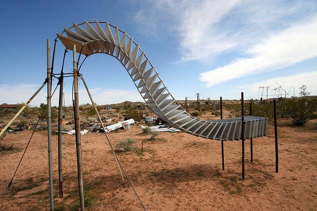 Noah Purifoy Outdoor Desert Art Museum - Sixty-Five Aluminum Trays (9844)