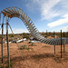Noah Purifoy Outdoor Desert Art Museum - Sixty-Five Aluminum Trays (9844)