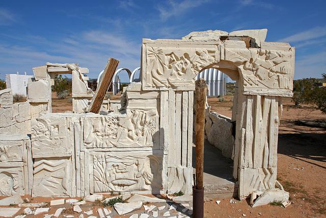Noah Purifoy Outdoor Desert Art Museum - Spanish Arch (9937)