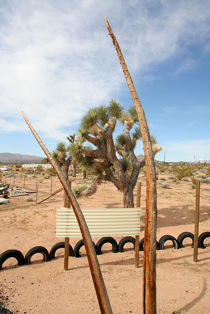 Noah Purifoy Outdoor Desert Art Museum - Earth Piece (9841)