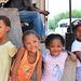 Namibische Kinder in der Nähe von Mariental
