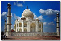 Taj Mahal, Rückansicht