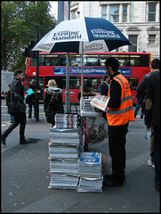 London news vendor