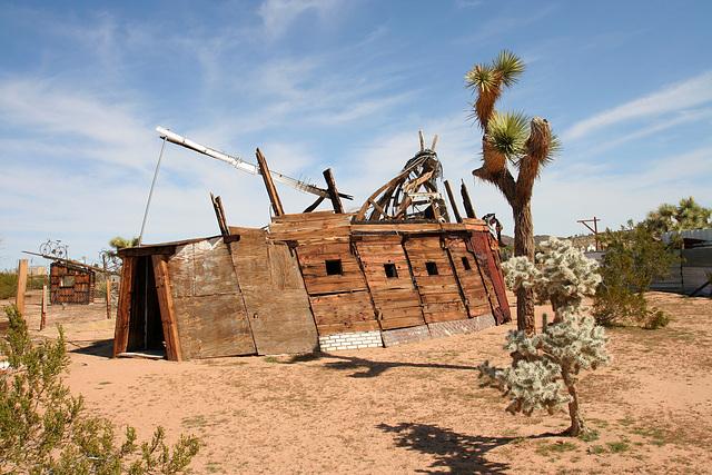 Noah Purifoy Outdoor Desert Art Museum - Squatter's Shack (9952)