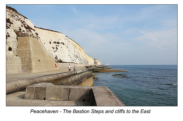 Peacehaven Bastion steps & cliffs to East 09 17 2014