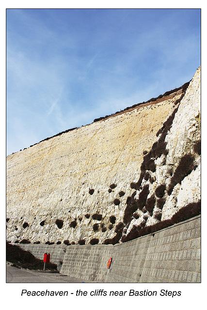 Peacehaven Bastion Steps cliffs 09 17 2014