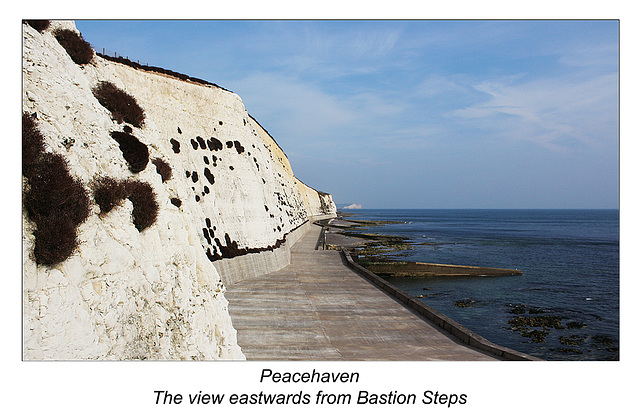Peacehaven east from Bastion steps - 17.9.2014