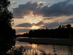 Altrhein mit Blick auf die Rheininsel