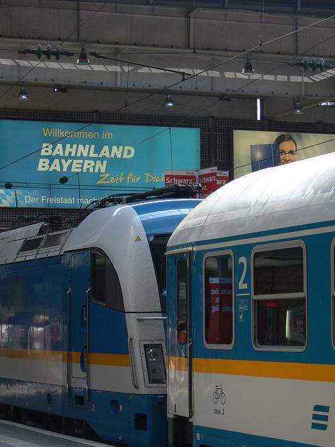 Am Münchner Hauptbahnhof